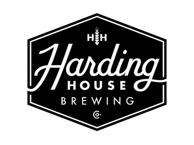 Harding House Brewing Co. Final Logo custom type hand lettering hexagon badge script logo lettering