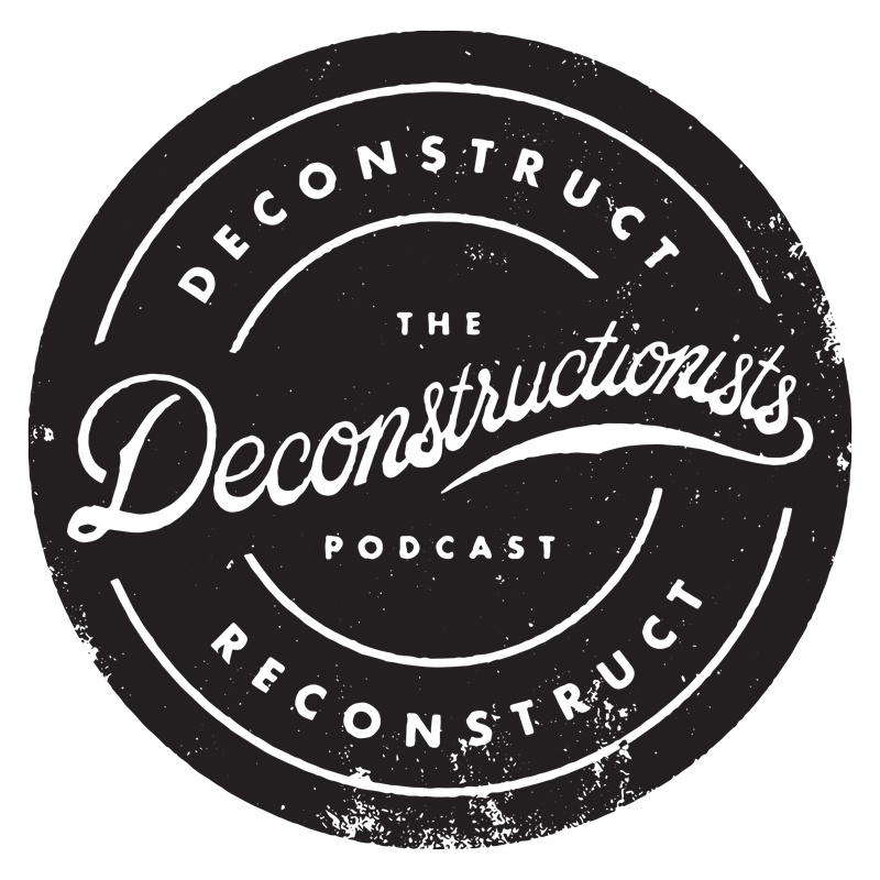 The deconstructionists podcast logo