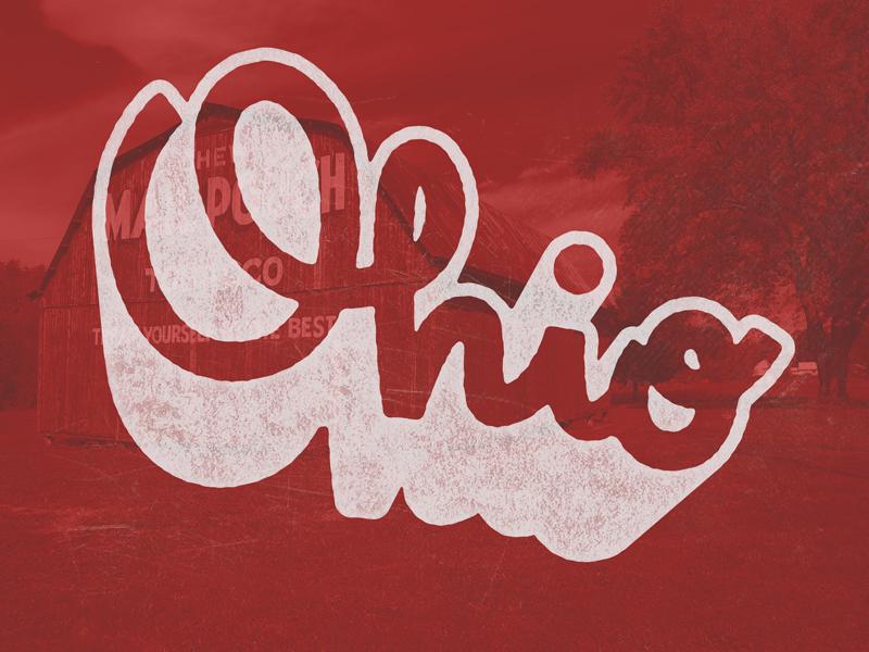 Ohio custom lettering handlettering logo state ohio typography type lettering