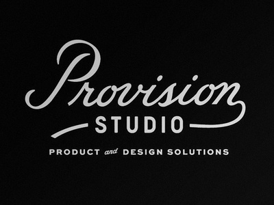 Provision Studio hand lettering typography type vintage script logo lettering