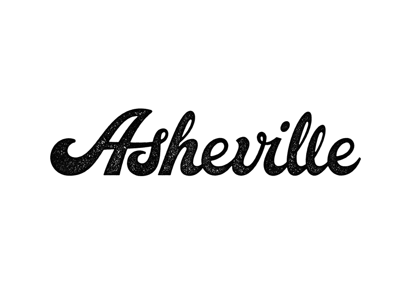 Asheville north carolina hand lettering custom lettering typography type lettering