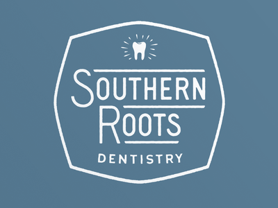 Southern Roots Dentistry vintage badge tooth lettering dentist logo