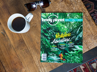 Lonely Planet Magazine Lettering