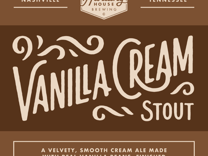 Vanilla Cream Stout beer lettering