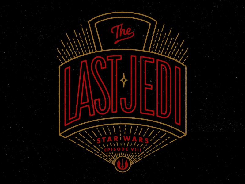 The Last Jedi the last jedi star wars hand lettering texture vintage lettering