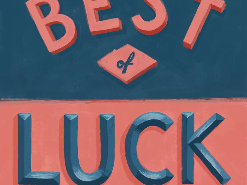 iPad lettering vintage texture painting luck lettering ipad