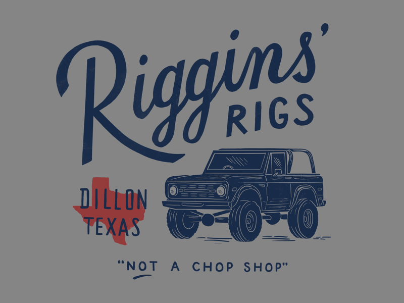 Riggins' Rigs riggins bronco dillon fnl texas illustration lettering
