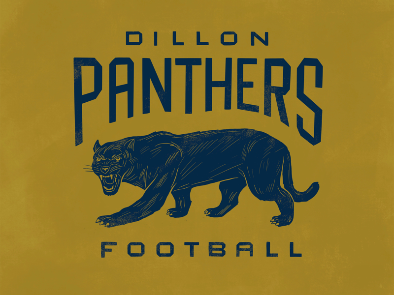 Panthers custom type friday night lights football dillon panther illustration lettering
