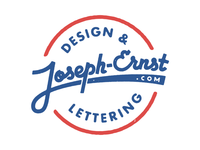 Joseph Ernst.com design logo stamp branding sticker lettering