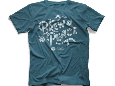 Brew Peace t-shirt lettering merch brewery hops typography custom lettering beer brew peace lettering