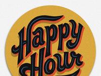 Happy hour coaster