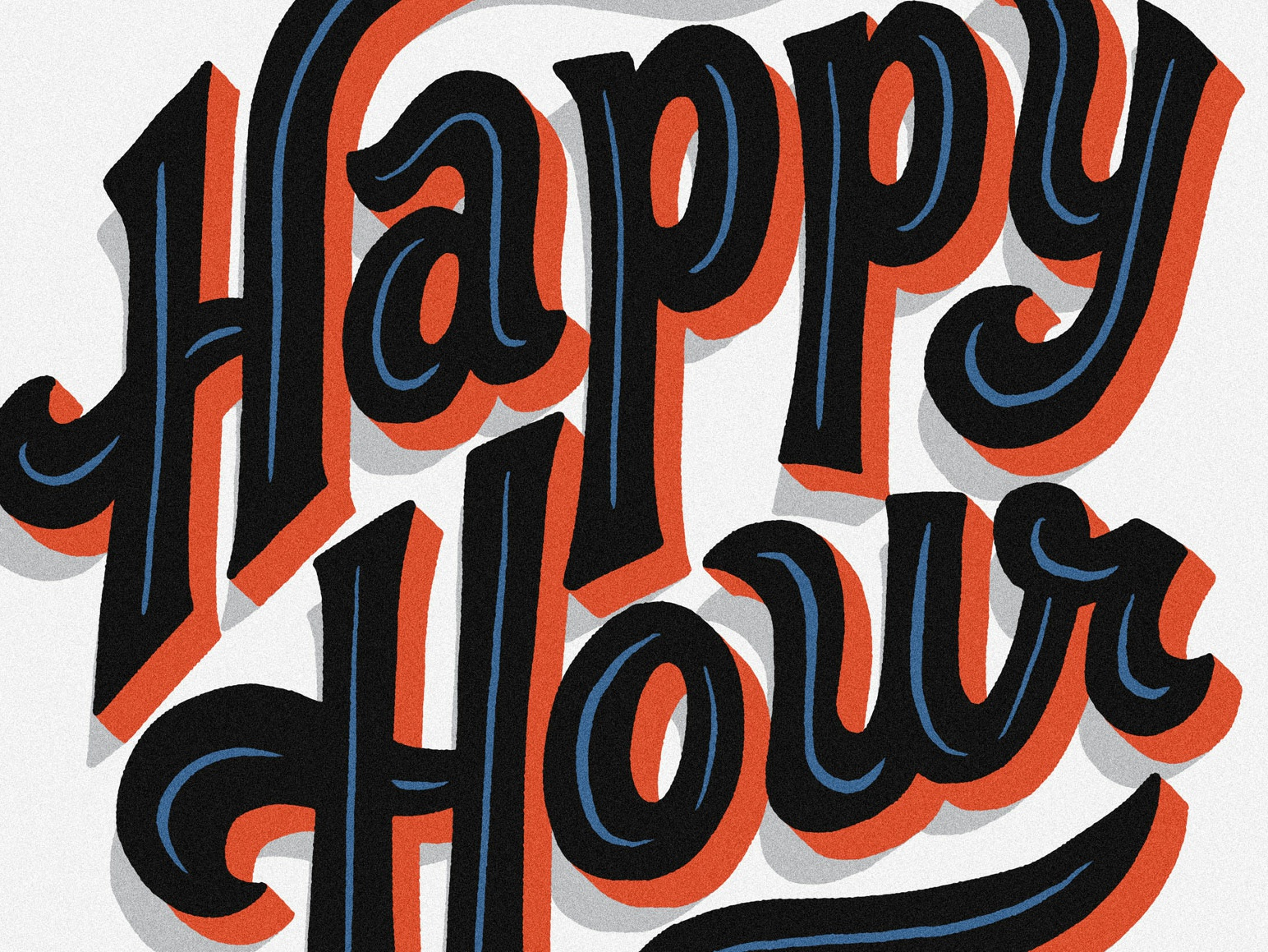 Happy Hour Coaster ipad pro procreate custom lettering script lettering script coaster happy hour