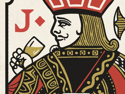 Jack Of Diamonds jack bloom illustration vintage texture beer cards playing cards royalty playing card diamonds jack