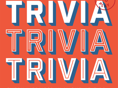 Trivia Night brewery beer lettering poster script typography type trivia