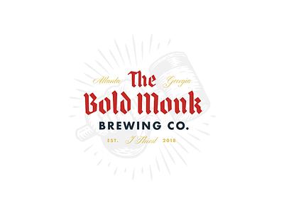 The Bold Monk atlanta beer logo branding brewery