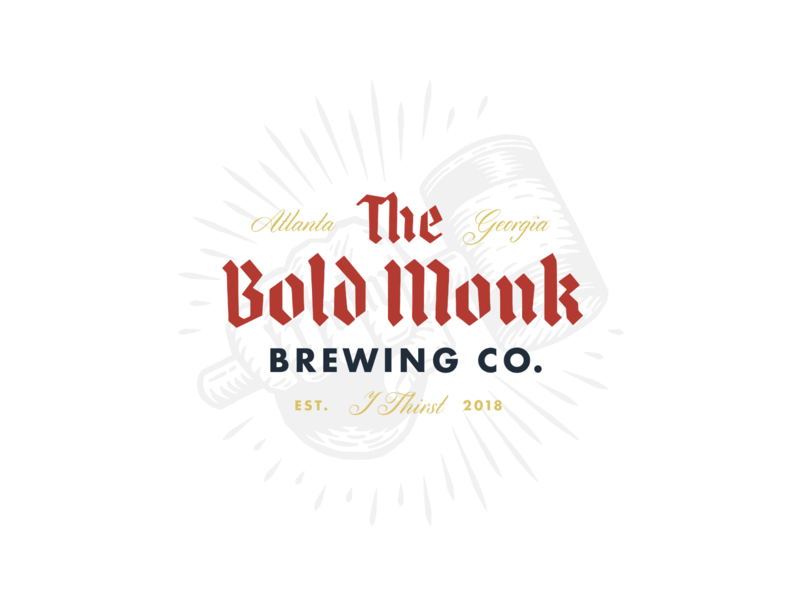The Bold Monk atlanta beer logo branding brewery