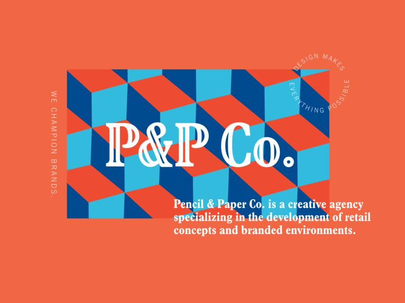 P&P Co. branding design pattern design branding agency branding rebranding rebrand