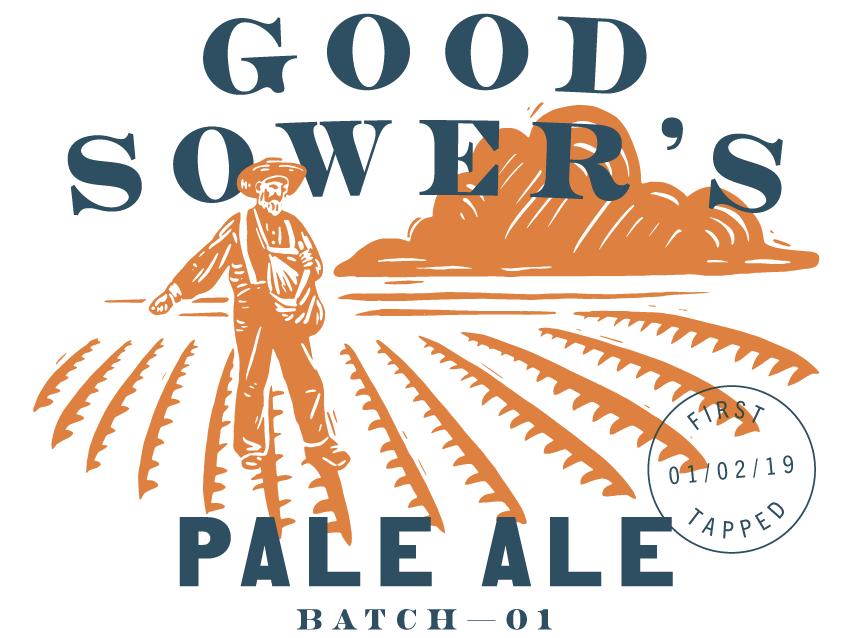 Good Sower's Pale Ale farm illustration typography beer labels beer label beer