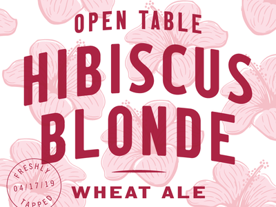 Open Table Hibiscus Blonde