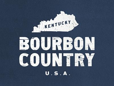 Bourbon Country apparel lockup bourbon kentucky texture