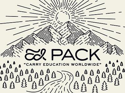 EdPack Tee explore nature line art outdoors illustration