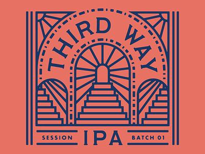 Third Way IPA beer label design labor union monoline packaging brewery beer label beer