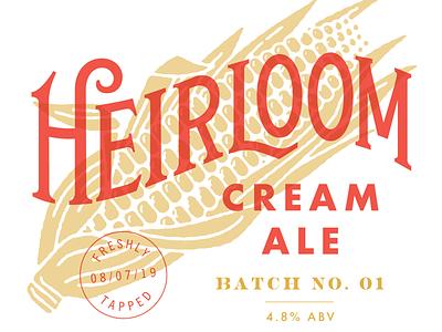 Heirloom Cream Ale typography lettering brewing beer