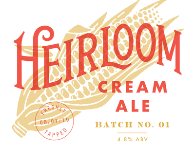 Heirloom Cream Ale typography lettering brewing beer