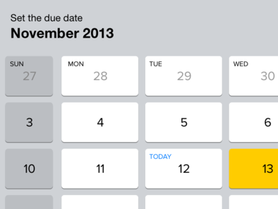 Calendar keys