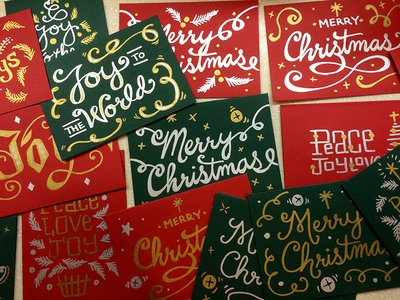 Christmas cards christmas hand-lettering