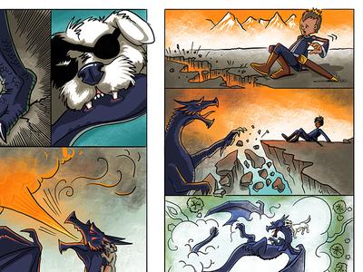 Dragons dragons illustration graphic novel comics