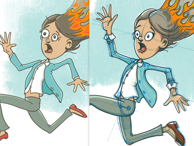 Hair On Fire instruction learn how-to procreate ipad digital illustration