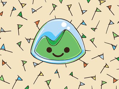 Basecamp Thank You Card illustration stationary card
