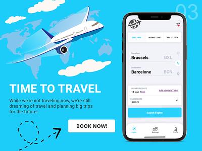 Daily UI 003 - Landing page flightapp dailyui003 mobileapp daily ui appdesign dailyui challenge