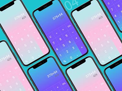 Daily UI 004 Calculator calculatrice calculator daily ui 004 dailyui daily ui mobileapp appdesign challenge