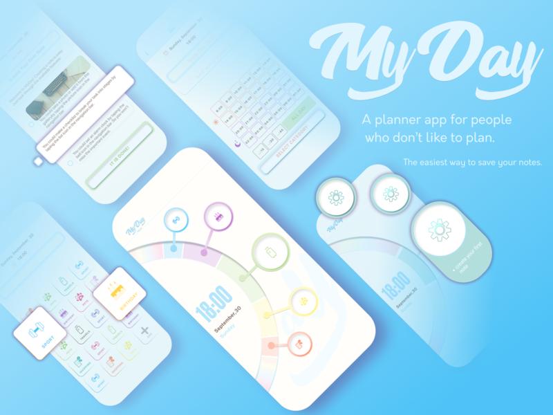 MyDay todo list todo app todo todolist planners planner concept application mobile app app design