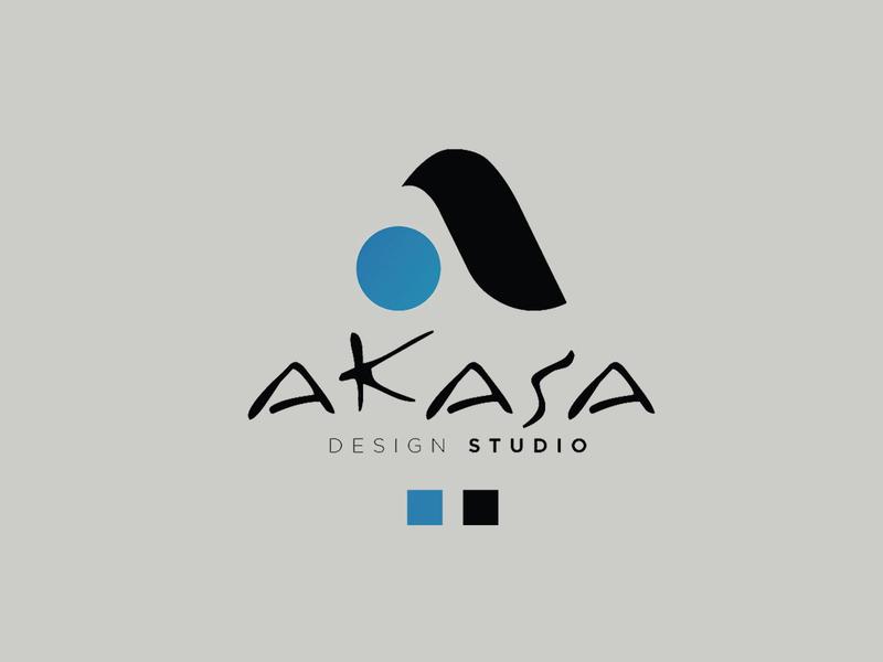 Akasa - Logo Design icon 3d designer interior identity design minimal flat app typography vector branding logo design
