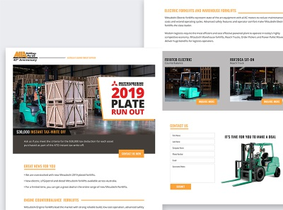 MLA | Run Out Landing page ecommerce advertising email design