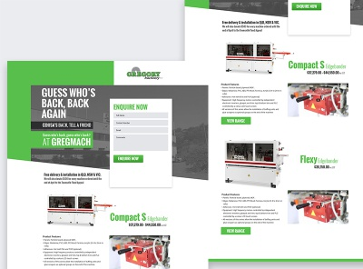 GregMach | Cehisa Landing page ecommerce advertising email design