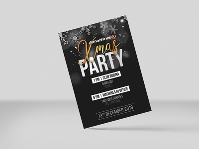 Christmas Party Invitation Card printing design