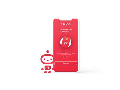 Hugo Banking Application branding motion graphics ae design graphic character berg motion animation
