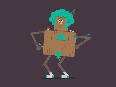 Jazz Tree mood idle dance tree bird illustration ae design graphic character berg motion animation
