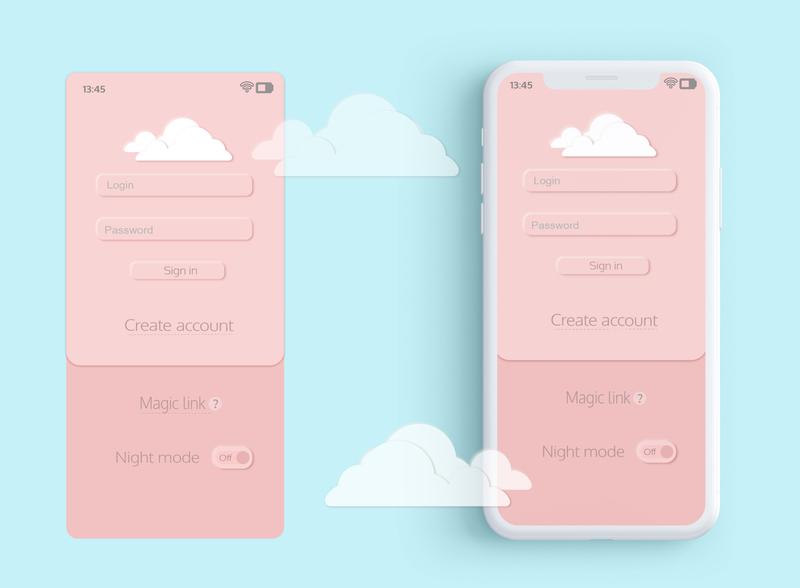 Login Screen apple app ux ui