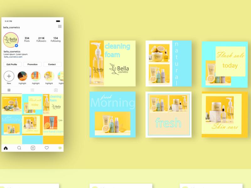 Social Media Pack For Online Shop instagram template instagram grid instafeed post poster logo design branding illustrator photoshop