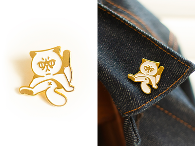 The Cat Butt mewmart merch enamel pin meow mew cat
