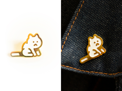 The Existentialist enamel pin meow cat merch mew mewmart