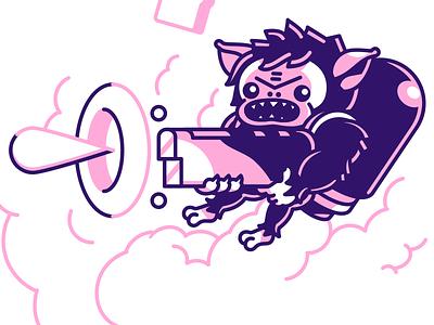PIGSquad Shirt - ChargeShot squad pig smoke gun jetpack character monster game art indie game illustration