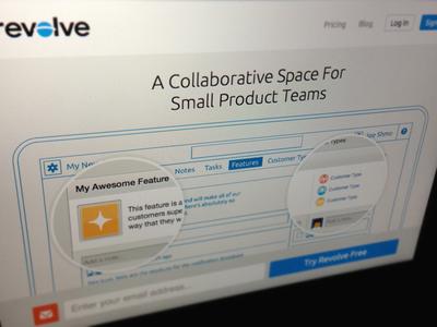 Revolve Promo site concept