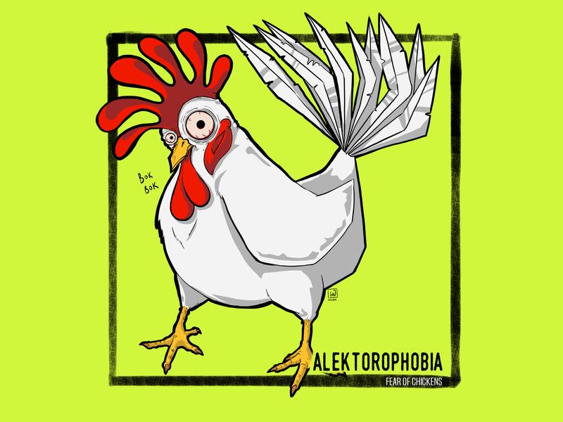 Phobias - Alektorophobia drawing digitalart illustration digital illustration
