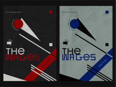 """""""But The Wages"""" - poster (two variants) amateur illustration simple graphic design design miratrix shapes typography poster constructivism abstract song lyrics hozier song poster song"""